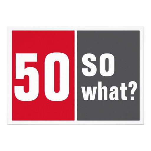50 birthday invitation convite personalizado