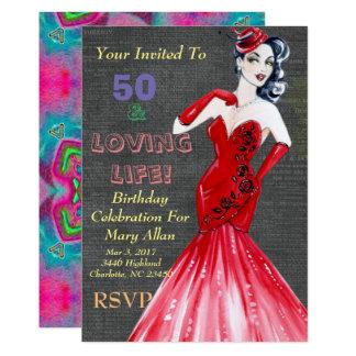 50 & convites de festas Loving da vida