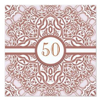 50 convites do damasco do aniversário de casamento
