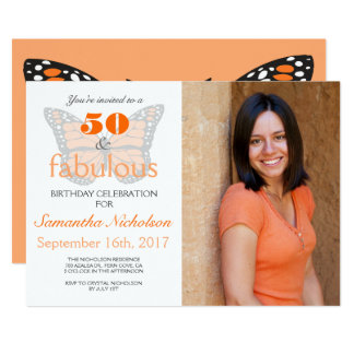50 e 50th convite de aniversário fabuloso