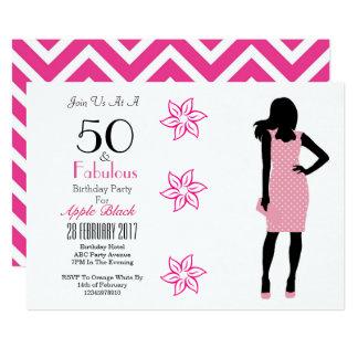 50 e 50th convite fabuloso de Chevron do