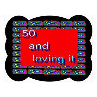 50 e amor do! cartão postal
