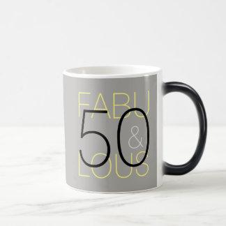 50 e caneca cinzenta & amarela preta moderna