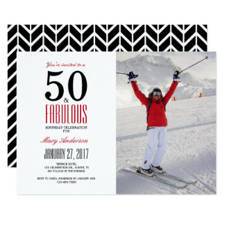 50 e convite de aniversário fabuloso de | 50th