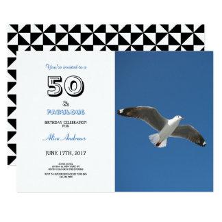 50 e convite fabuloso da foto do aniversário