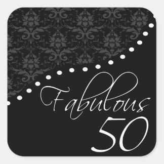 50 fabulosos personalizaram a festa de aniversário adesivo quadrado