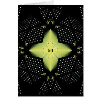 50th Aniversário de casamento Cartão Comemorativo