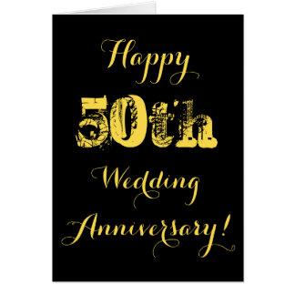 50th aniversário de casamento feliz cartão comemorativo