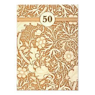 50th aniversário de casamento mim convite 12.7 x 17.78cm