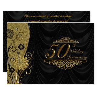 50th Aniversário de casamento RSVP Convite 12.7 X 17.78cm