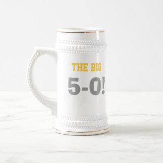 50th Caneca de cerveja do aniversário