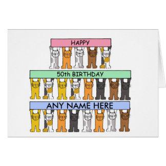 50th Cartão de aniversário a personalizar com