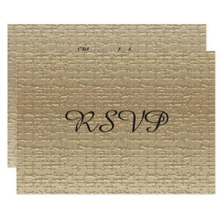 50th Cartões do aniversário de casamento RSVP, Convite 8.89 X 12.7cm