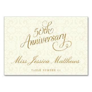 50th Cartões do lugar do aniversário de casamento