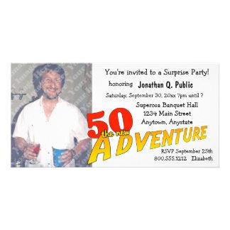 50th Convite da foto do partido de aventura do ani Cartão Com Foto