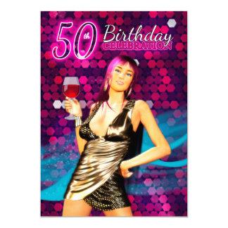 50th convite de aniversário - DES do na moda de