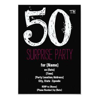 50th Convites de papel da festa de aniversário