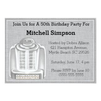 50th Convites do aniversário do jukebox