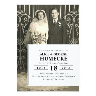 50th festa de aniversário moderna do casamento convite 12.7 x 17.78cm