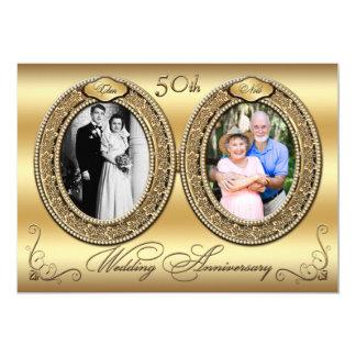 50th O aniversário convida 2 Convite 12.7 X 17.78cm