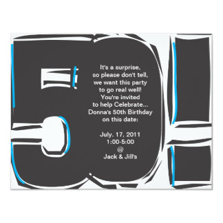 50th O aniversário convida Convite 10.79 X 13.97cm