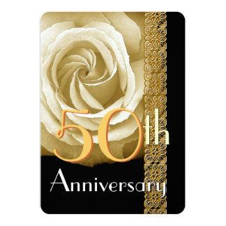 50th O CHAMPANHE do convite do aniversário