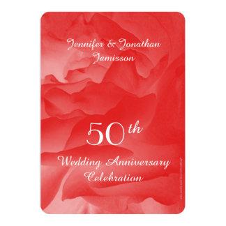 50th O convite da festa de aniversário do