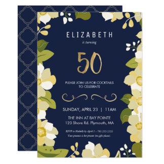 50th O convite de aniversário personaliza o