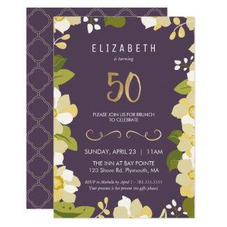 50th O convite do aniversário personaliza o