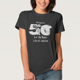 50th presente de aniversário engraçado em grandes t-shirts
