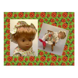 514s Sasha bebé Rosie Flower Dress cartão postal