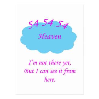 54 celestial cartão postal