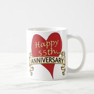 55th. Aniversário Caneca De Café