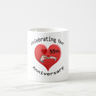 55th. Aniversário de casamento Caneca De Café