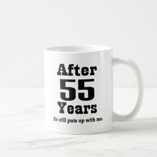 55th Aniversário (engraçado) Caneca De Café