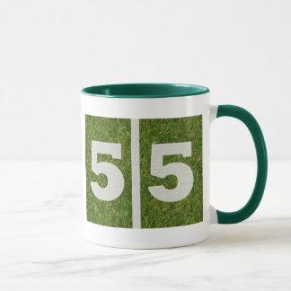 55th Caneca customizável do futebol da jarda do