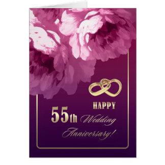 55th Cartões do aniversário de casamento