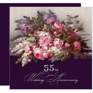55th Convites da festa de aniversário do casamento