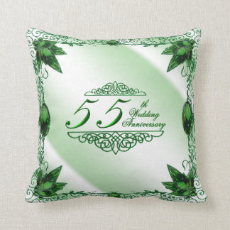 55th Travesseiro do aniversário de casamento Almofada