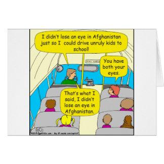 567 condutor de autocarro zazzle.png cartão comemorativo