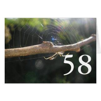 58th Aniversário Cartão Comemorativo