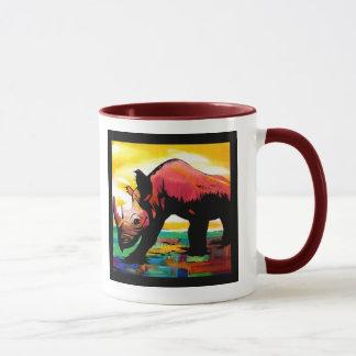 5 GRANDES (rinoceronte) Caneca