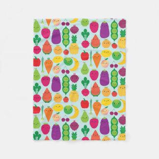 5 uma fruta & vegetais do dia cobertor de lã