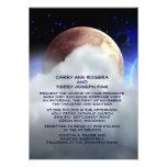 """5"""" x 7"""" planetas do espaço profundo que Wedding o  Convites Personalizado"""