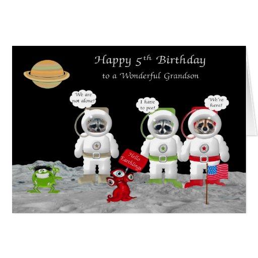 5o Aniversário para cartões do neto