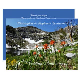 5o Convite do aniversário de casamento,