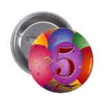 5o Decorações do balão da festa de aniversário Botons