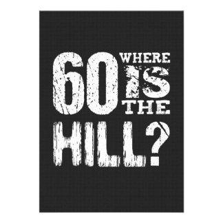 60 onde está aniversário engraçado A12 do monte o Convites