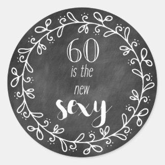 """60 são os """"sexy"""" novo - 60th etiquetas do costume"""