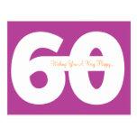 60th cartão felizes do marco miliário do aniversár